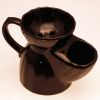 Pottery Shaving Mug, black