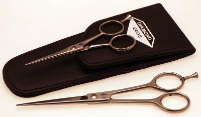 Diamond Silk Straight scissors set with pouch