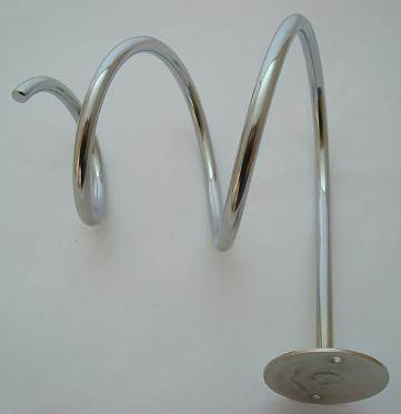 Spiral hairdryer holder
