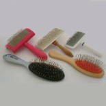 slicker and pin brushes