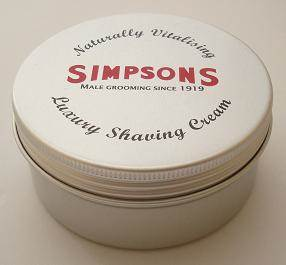 Simpsons Luxury Shaving cream