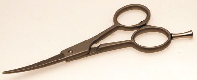 "Roseline 82046 4 1/2"" curved dog grooming scissors"