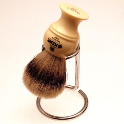 Kent VSB9 chrome shaving brush dripstand