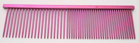 "Resco Combination comb, 1 1/2"" long teeth, raspberry red"