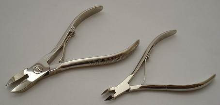Nail/cuticle nippers sharpening