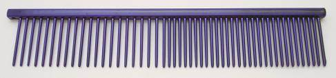 "Resco Combination comb, 1"" long teeth, purple"