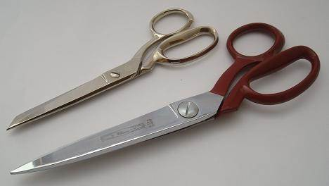 "Tailors' shears sharpening over 6"" blade"