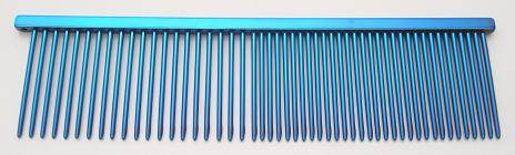 "Resco Combination comb, 1 1/2"" long teeth, Electric blue"