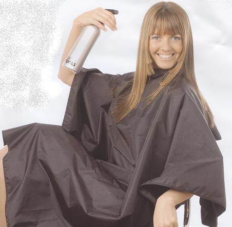 Tint-proof Hairdressing gown, black