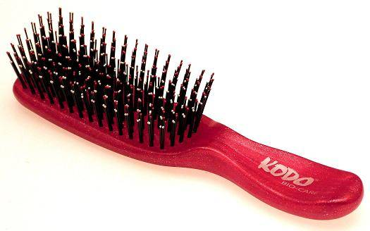 Kodo Bio-care infused hairbrush, small red