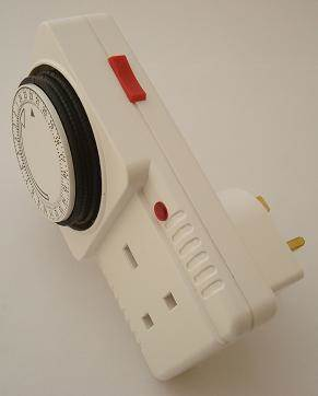 Plug-in time switch for regulating operating hours of Kennel and Cattery Heaters