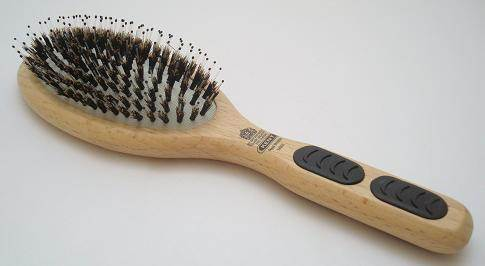 Kent PF01 Bristle/nylon hairbrush, large