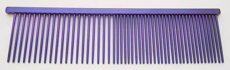 "Resco Combination comb, 1 1/2"" long teeth, winners purple"