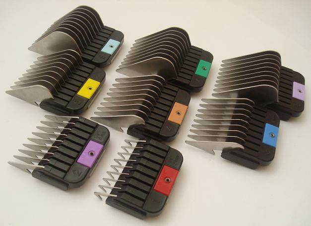 Set of 8 Wahl attachment combs