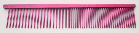 "Resco Combination comb, 1"" long teeth, raspberry red"